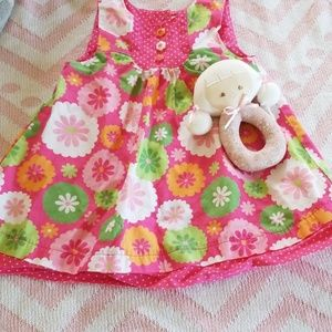 Dress for baby girl good condition size 6 to 12